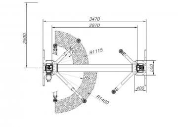 Двухстоечный подъёмник SL-2500BP от компании Power Rex