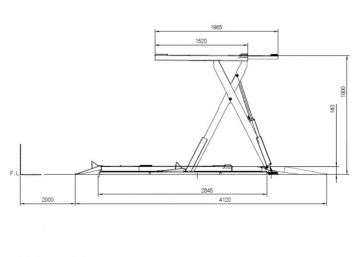 Гидравлический ножничный подъемник SL-1400L от компании Power Rex