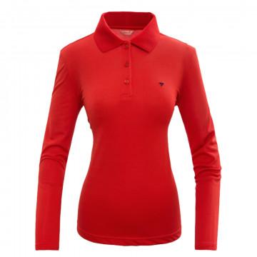 Женская футболка поло с длинным рукавом от Alpinist