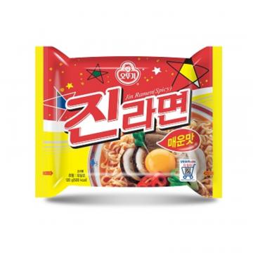 Корейская лапша Джин Рамен с грибами от Оттоги (острая)