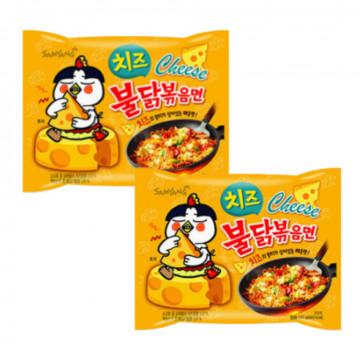 Острая лапша быстрого приготовления с сыром от Самьянг, 32 шт.
