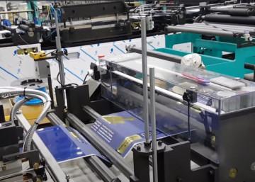Линия для производства гассетных пакетов (с фальцем) среднего и большого размера DSM600-CSG от Дусан.