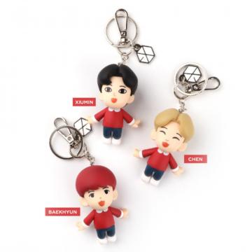 Комплект стильных мелочей для фаната к-поп и группы EXO (брелок EXO  на цепочке + фотокарточка + зеркало)