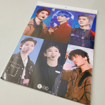 Набор из 12 постеров с изображением группы EXO + 1 лист наклеек