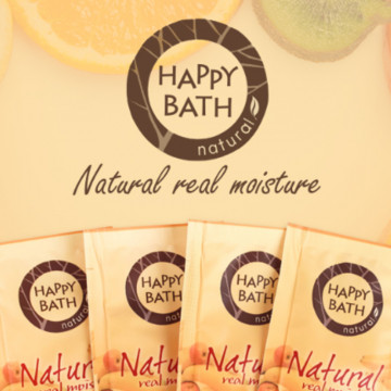 Одноразовый гель для душа Natural Real Moisture Happy Bath от Amore Pacific, 400 шт по 8 г