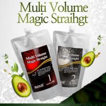 Средство для химического выпрямления волос  Multi Volume Magic Straight от inDus (для поврежденных волос)