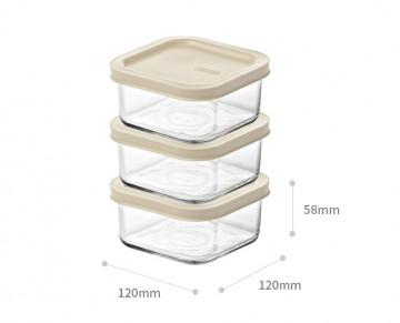 Стеклянные контейнеры с крышкой Easy Open от Glasslock, (3 шт. по 490 мл).