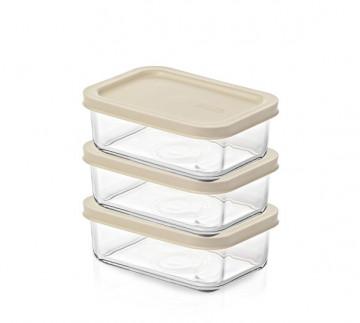 Стеклянные контейнеры с крышкой Easy Open от Glasslock, (3 шт. 695 мл).