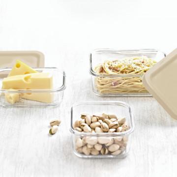 Стеклянные контейнеры с крышкой Easy Open от Glasslock,(3 шт. по 850 мл).