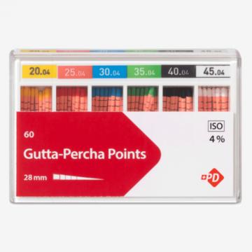 Гуттаперчевые штифты для зубных каналов Gutta percha points от Spident