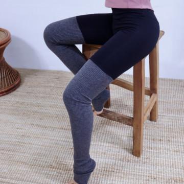 Теплые легинсы с вшитыми гетрами для йоги от Misochu