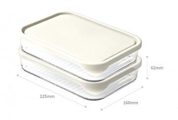 Термостойкие стеклянные контейнеры для рыбы и мяса от Glasslock, (2 шт. по 480 мл, 2 шт. по 1050 мл).