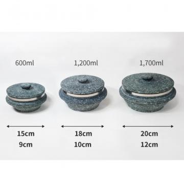 Традиционный корейский каменный котелок для приготовления риса - тольсот от Gangnam Pot